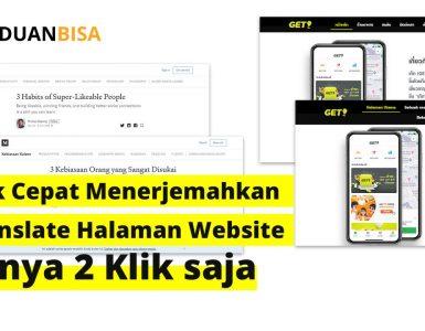 Trik Cepat Menerjemahkan Halaman Website hanya 2 Klik Saja