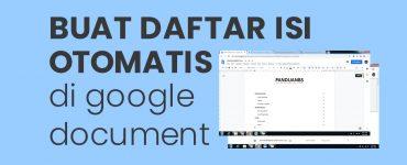 Daftar isi otomatis di google document PanduanBS