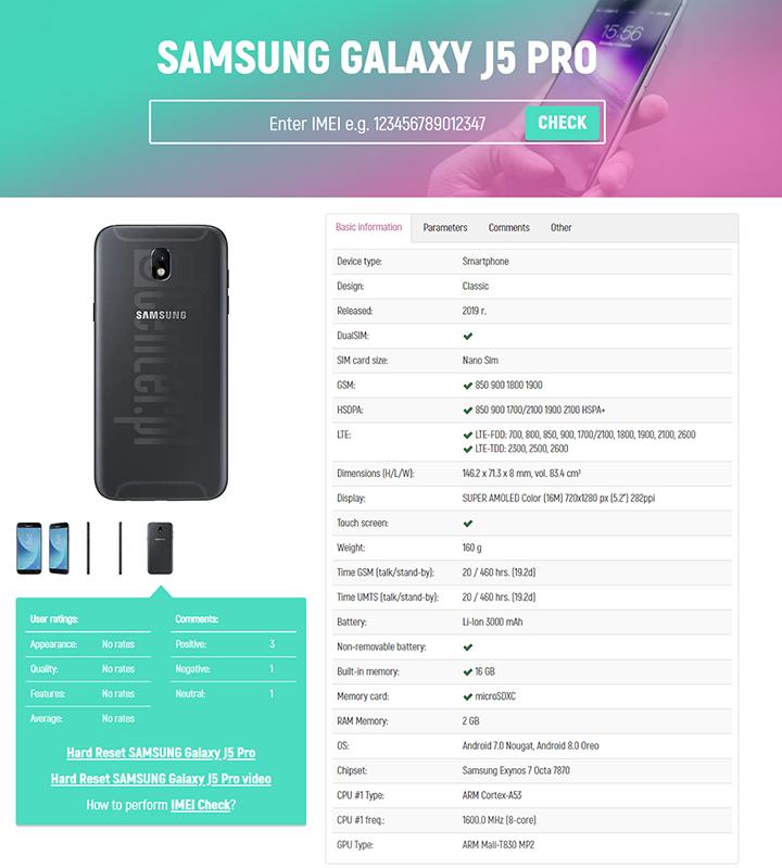 Cek IMEI Samsung