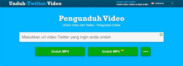 Halaman Unduh twitter video