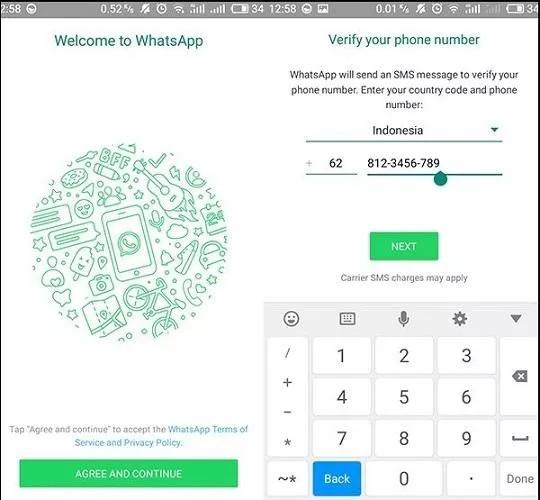 masuk whatsapp dengan nomor lama