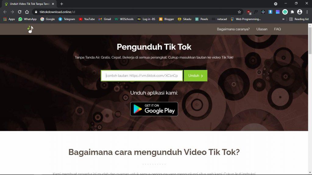Situs unduh video tiktok tanpa watermark