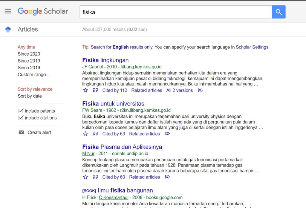 Menambahkan Bibliografi google Dokumen dari Website Googe Schoolar