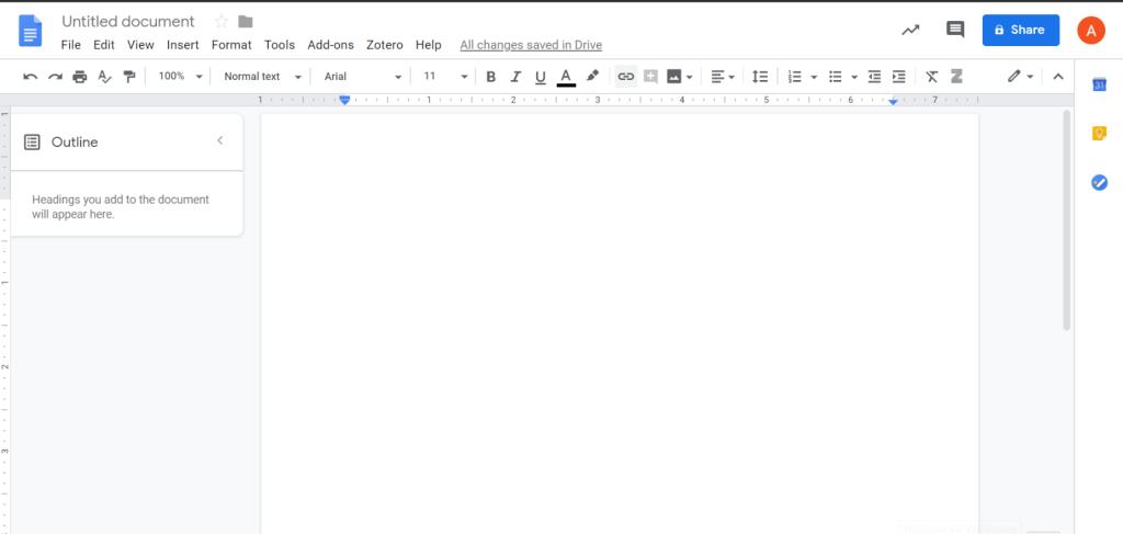 Buka Google Docs untuk Menambahkan Bibliografi google Dokumen