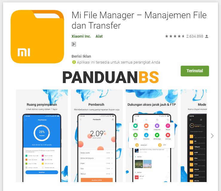 Mi File Manager Manajemen File dan Transfer